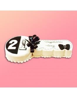 Cut Shape Cake - Key Cake 4