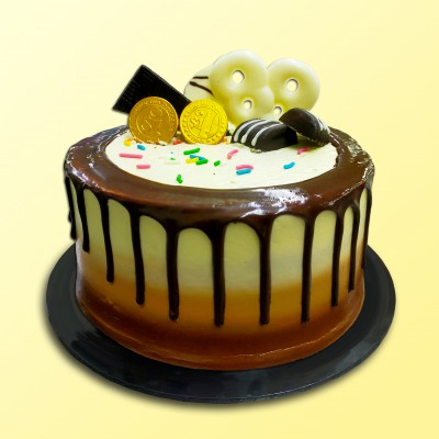 "6"" Chocolate Delicious - Drip Cake 5"
