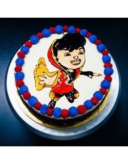 Piping Jelly Cake ( Boboi Boy 6 )