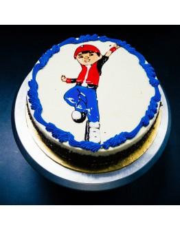 Piping Jelly Cake ( Boboi Boy 1 )
