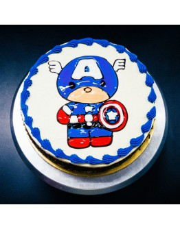 Piping Jelly Cake - Captain America 1