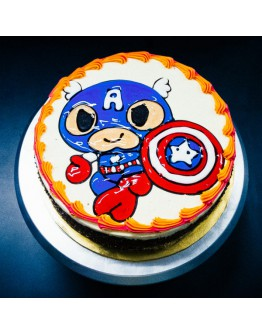 Piping Jelly Cake - Captain America 2
