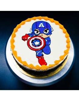 Piping Jelly Cake - Captain America 3