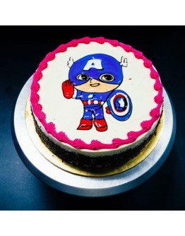 Piping Jelly Cake - Captain America 4