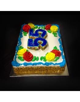 (Sheet Cake ) Rosette Numeric  I ( 2 KG )