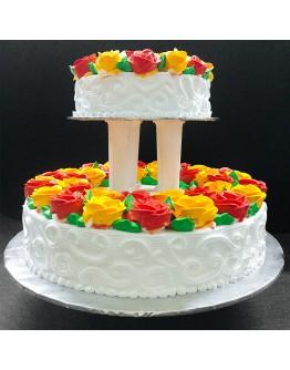 Delicate Summer Wedding Cake
