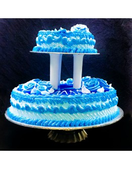 Elegant blue jelly wedding cake